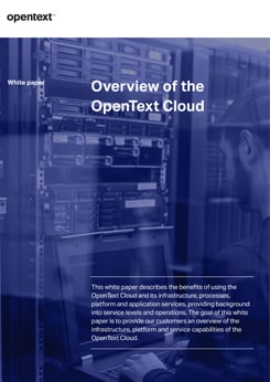 Overview of the OpenText Cloud