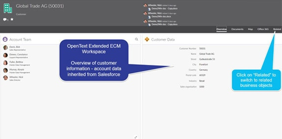 Full Access to OpenText ECM from within Salesforce